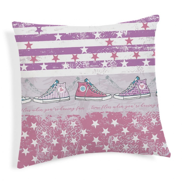 Pillowcase Kittens pink 40x40 cm Made in Italy
