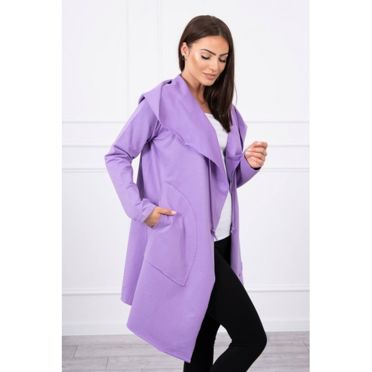 Cape with a hood MI8928 purple