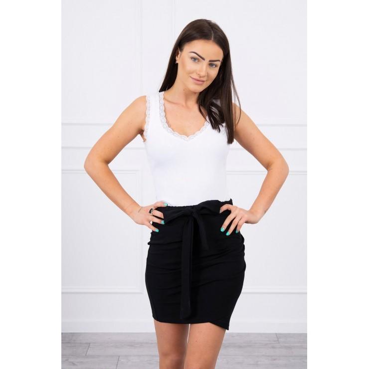 Women's skirt tied at the waist MI8984 black