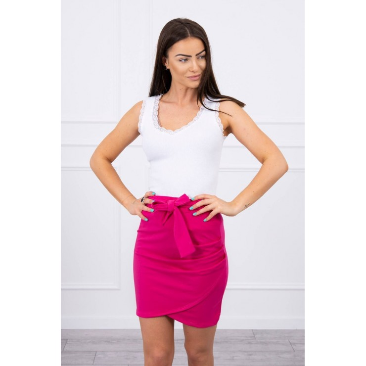 Women's skirt tied at the waist MI8984 fuxia