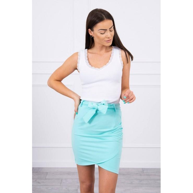 Women's skirt tied at the waist MI8984 mint