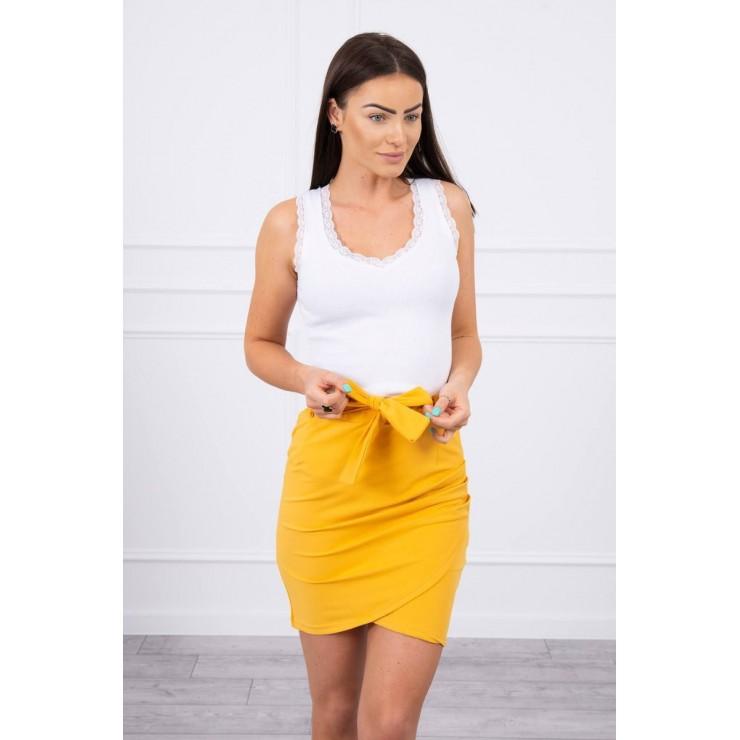 Women's skirt tied at the waist MI8984 mustard