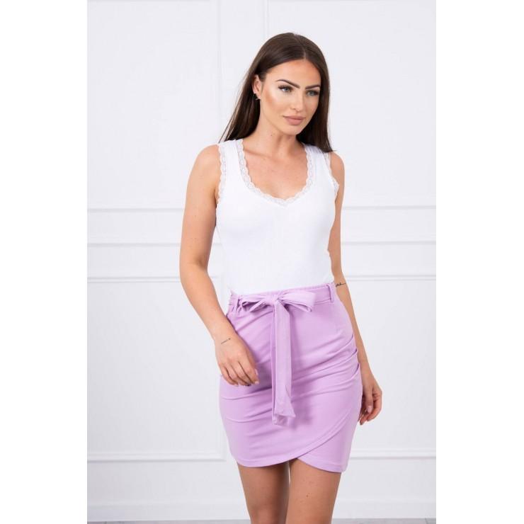 Dámska sukňa previazaná v páse MI8984 fialová