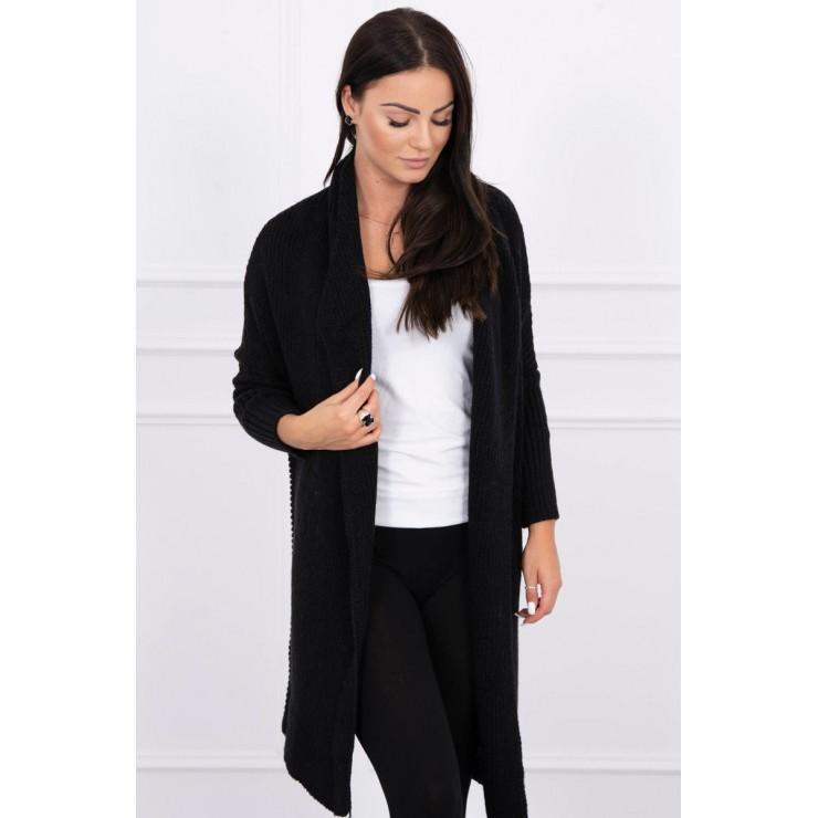 Dámsky sveter s rukávmi typ netopiera MI2019-13 čierny