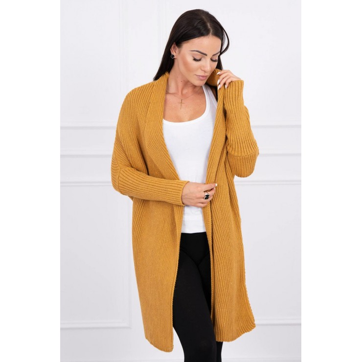 Sweater with sleeves bat type MI2019-16 mustard