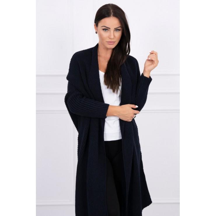 Sweater with sleeves bat type MI2019-16 dark blue