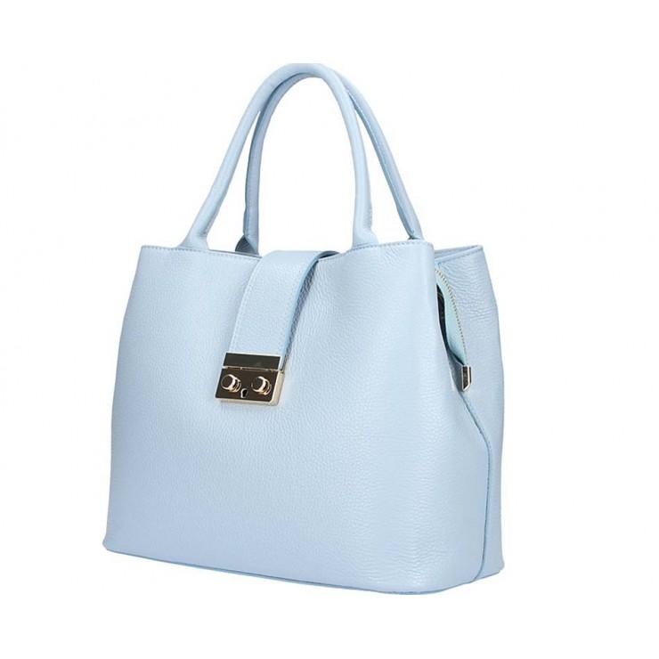 Nebesky modrá kožená kabelka 5307