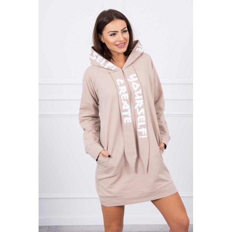Šaty s kapucí MI0042 béžové