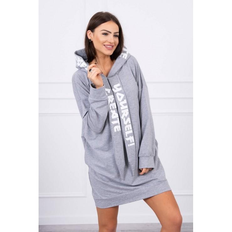 Dress with hood MI0042 gray