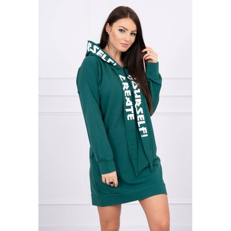 Dress with hood MI0042 green