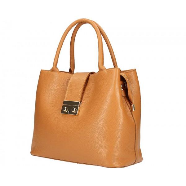 Woman Leather Handbag 1137 cognac
