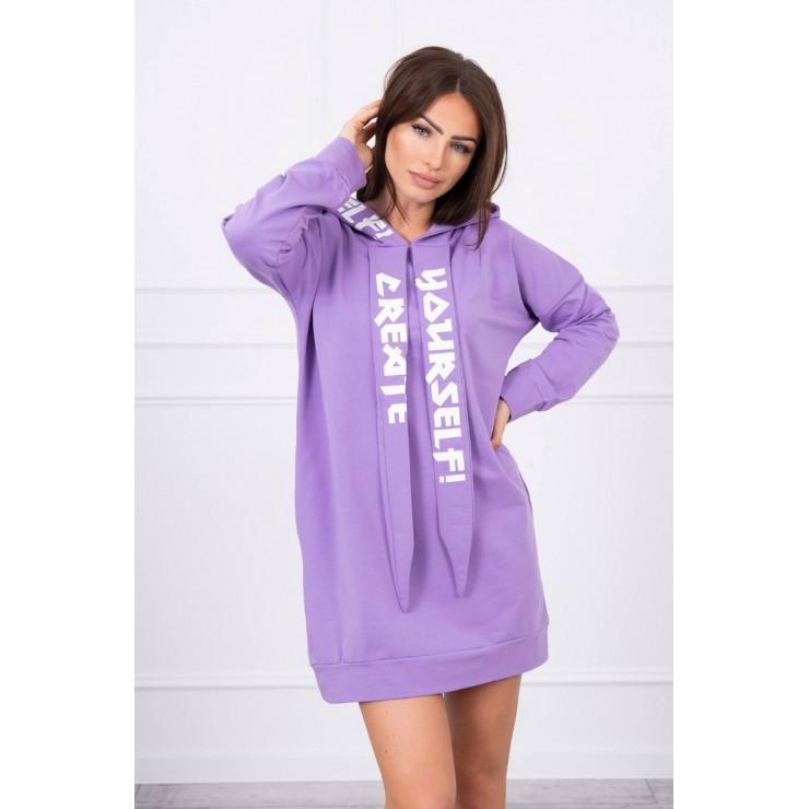 Dress with hood MI0042 purple