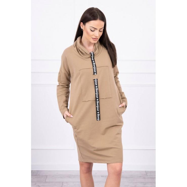 Šaty s kapucí Bonjour MI0153 camel