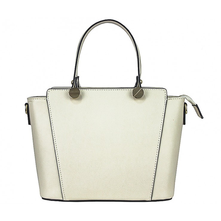 Genuine Leather Handbag  1461 beige