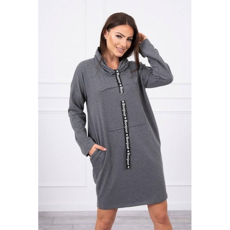 Šaty s kapucí Bonjour MI0153 grafitové