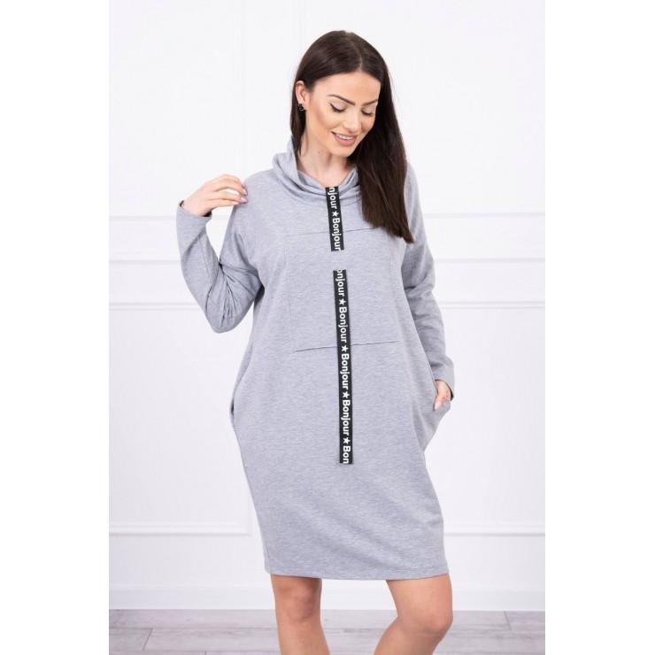 Šaty s kapucí Bonjour MI0153 šedé