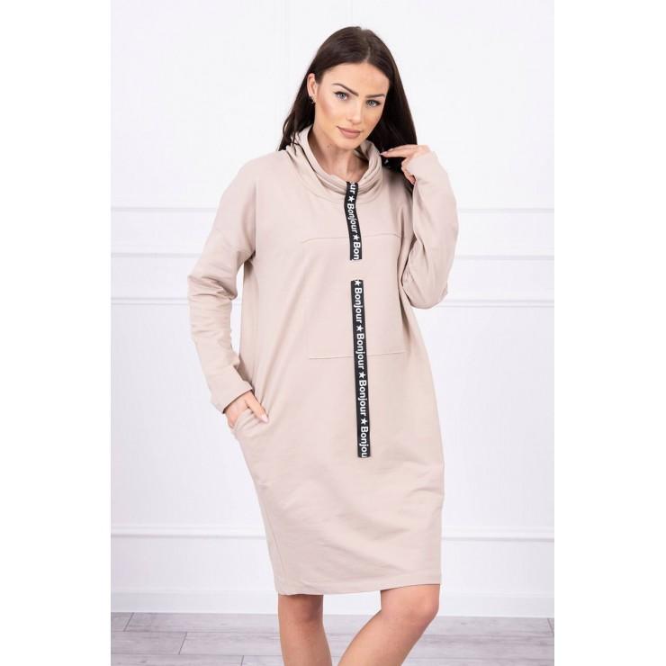 Šaty s kapucí Bonjour MI0153 světlebéžové