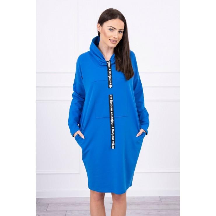 Šaty s kapucí Bonjour MI0153 modré