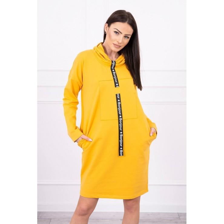 Šaty s kapucí Bonjour MI0153 okrové