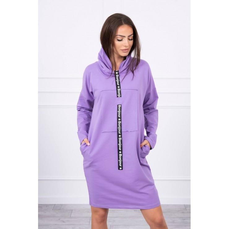 Šaty s kapucí Bonjour MI0153 fialové