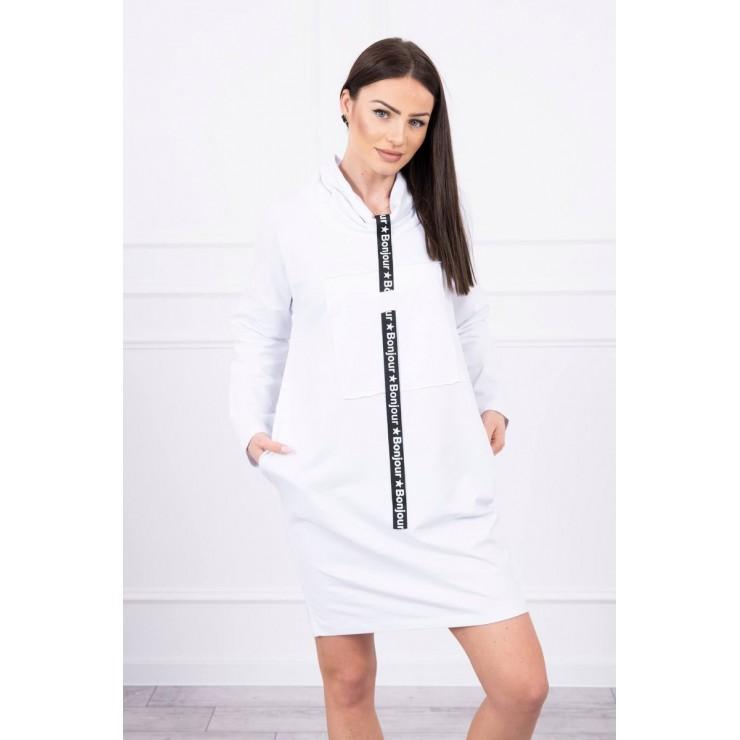 Šaty s kapucí Bonjour MI0153 bílé