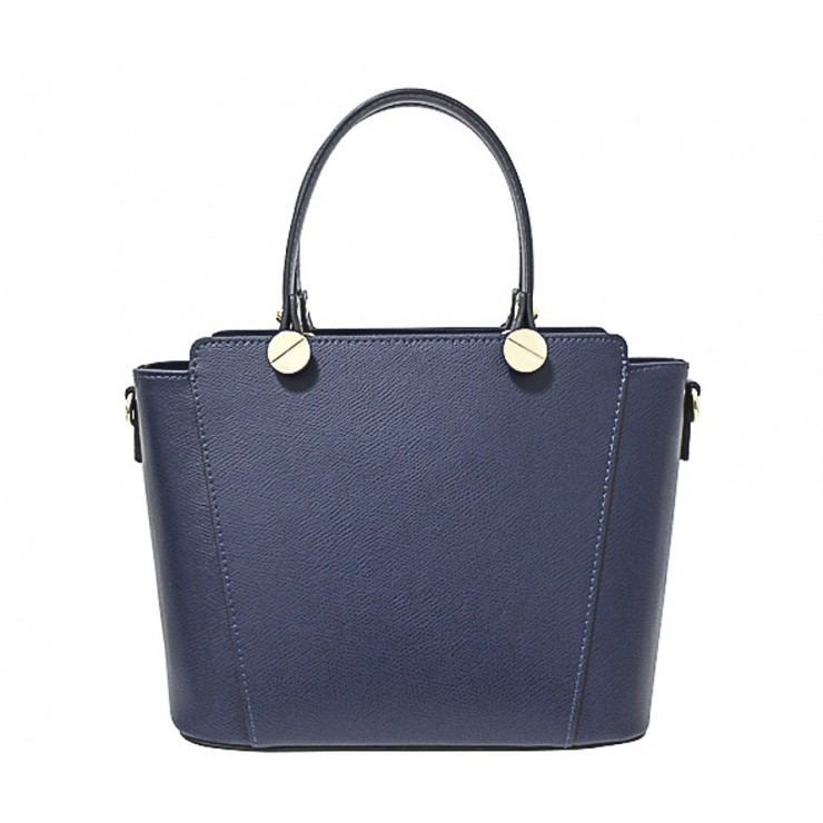 Genuine Leather Handbag  1461 blue