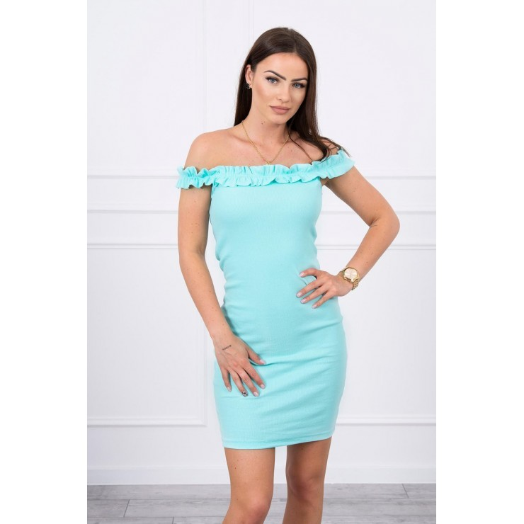 Of the shouldrer dress with frills MI9097 mint