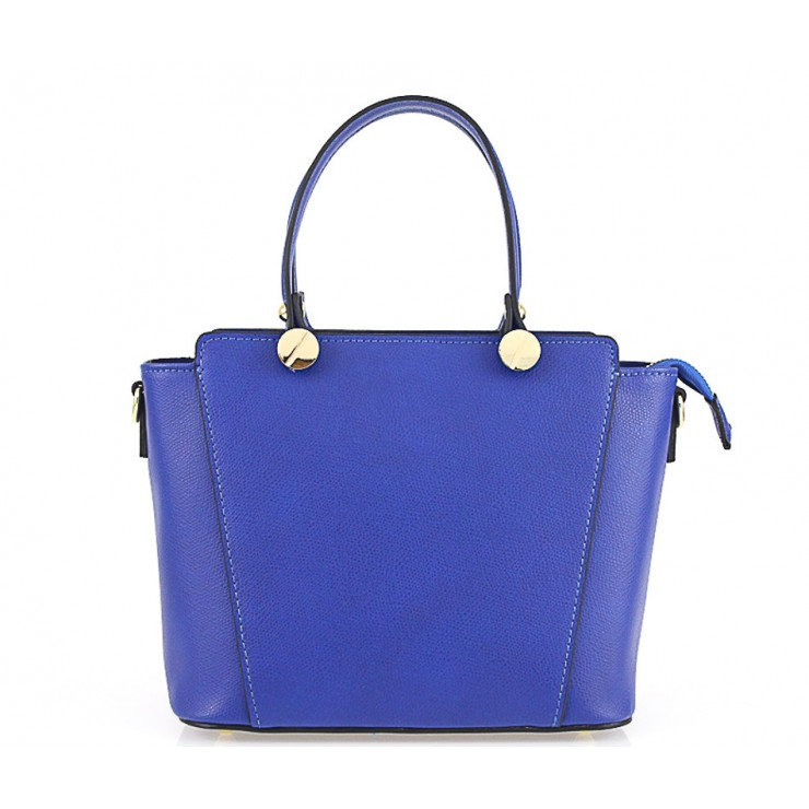 Genuine Leather Handbag  1461 bluette