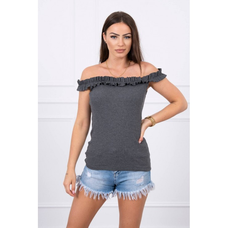 T-shirt with frills MI9096 graphite
