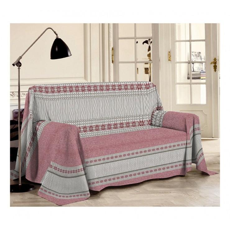 Prikrývka na gauč Trikot červená