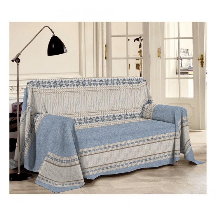 Prikrývka na gauč Trikot modrá