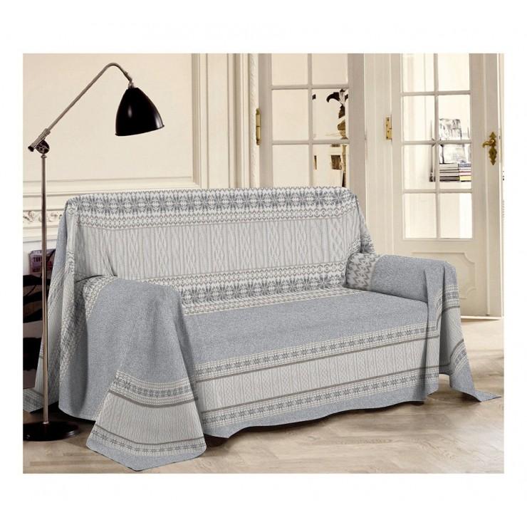 Prikrývka na gauč Trikot šedá
