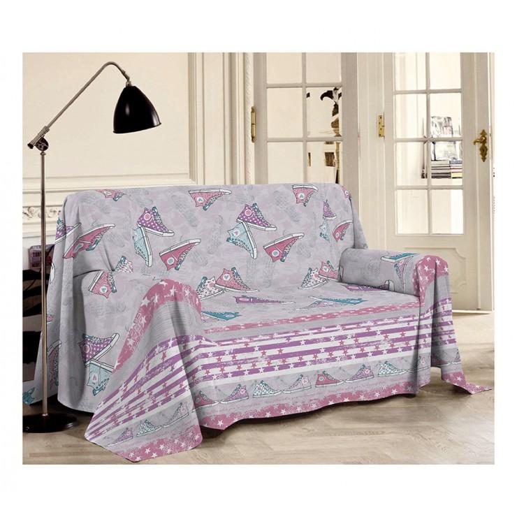 Prikrývka na gauč Tenisky ružová Made in Italy