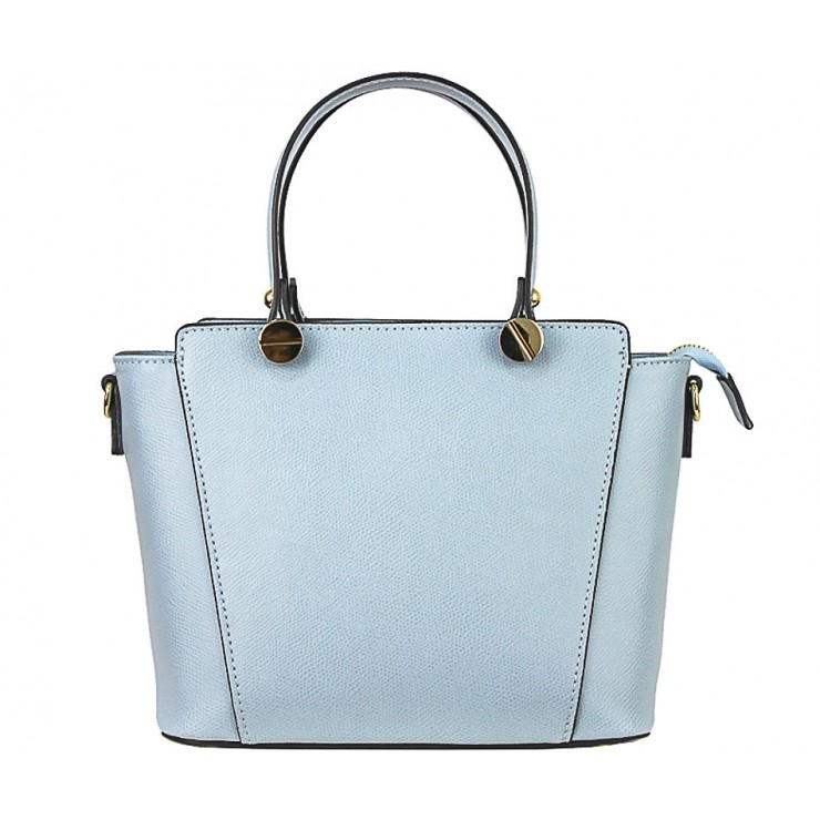 Genuine Leather Handbag  1461 light blue
