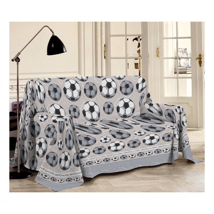 Blanket on the couch Football gray Made in Italy