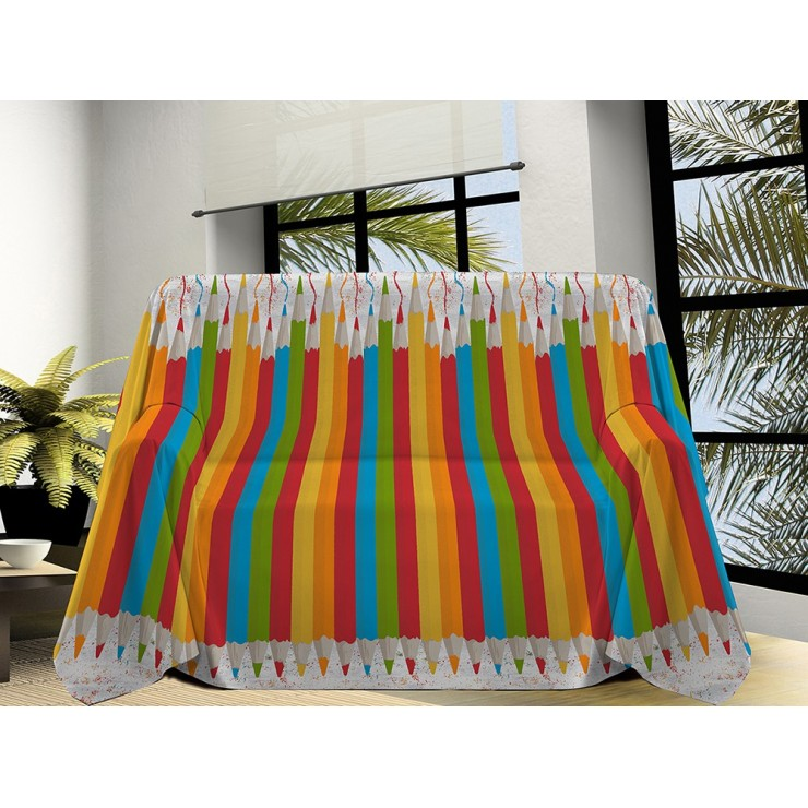 Blanket on the couch Pencils multicolour Made in Italy
