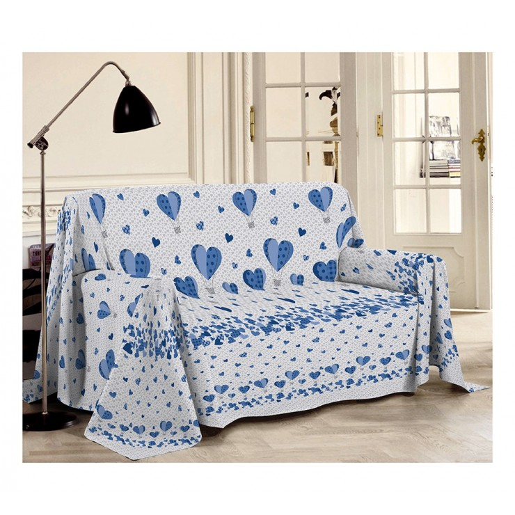 Blanket on the couch Balloons  blue Made in Italy