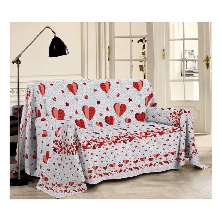Blanket on the couch Balloons red Made in Italy
