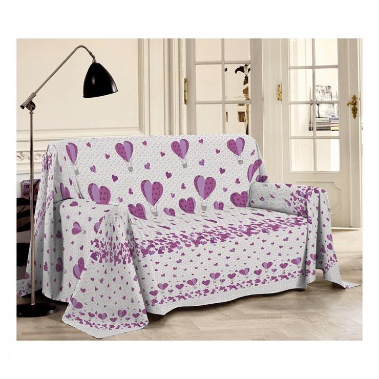 Prikrývka na gauč Balóny fialová Made in Italy
