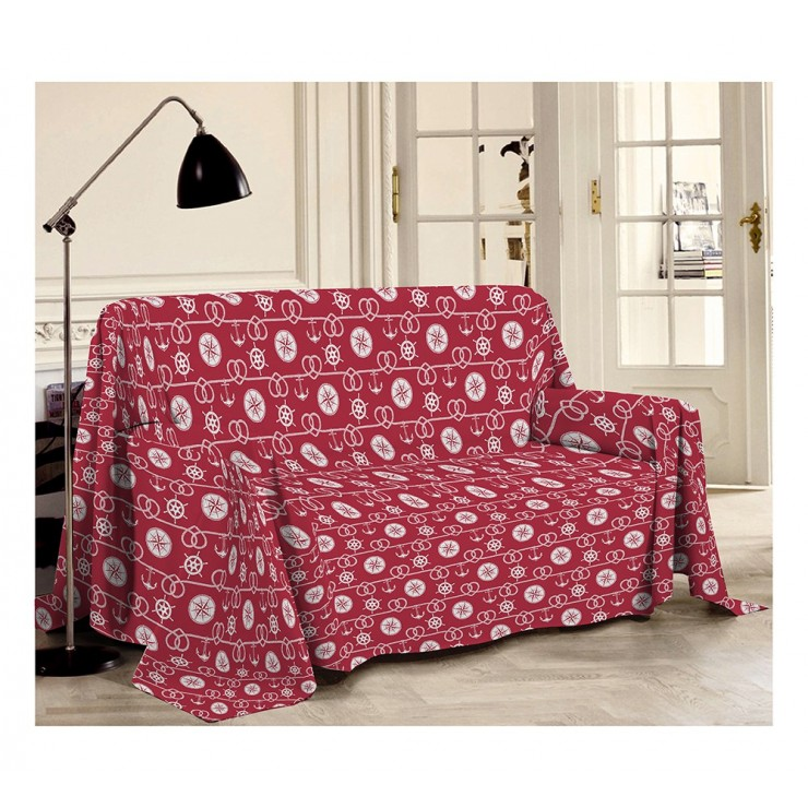 Blanket on the couch Sea red Made in Italy