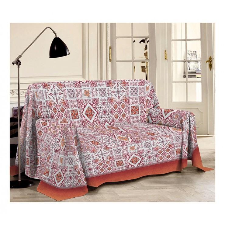 Prikrývka na gauč Majolika červená Made in Italy