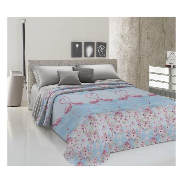 Bedcover Piquet Flamingo pink
