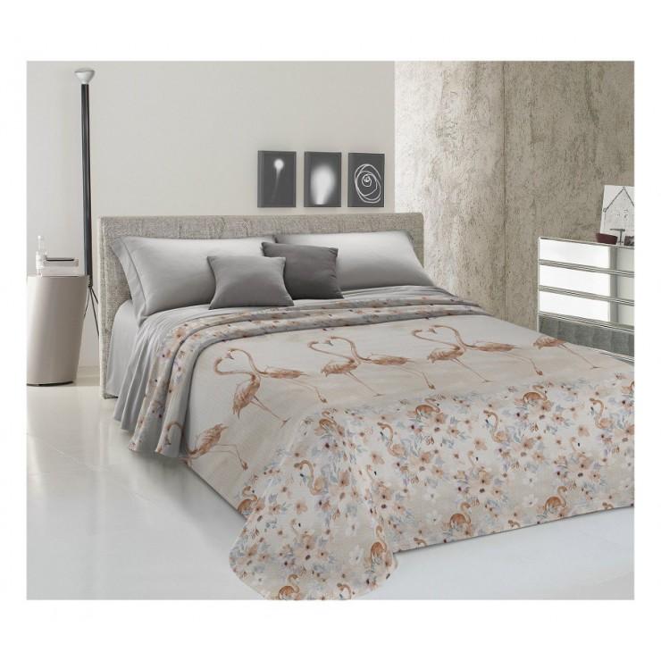 Bedcover Piquet Flamingo beige
