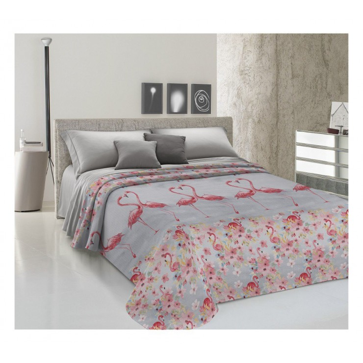 Bedcover Piquet Flamingo red