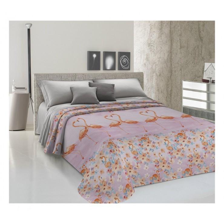 Bedcover Piquet Flamingo orange