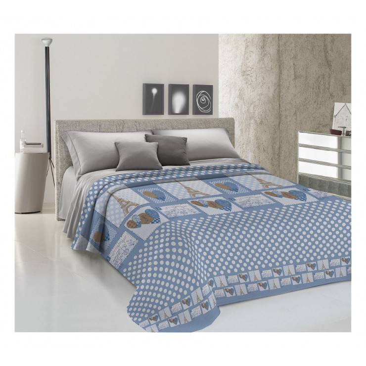 Bedcover Piquet Paris bluette