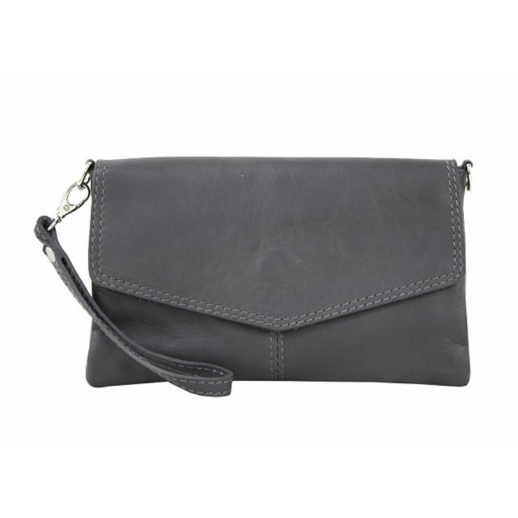Genuine Leather Handbag 798 dark gray