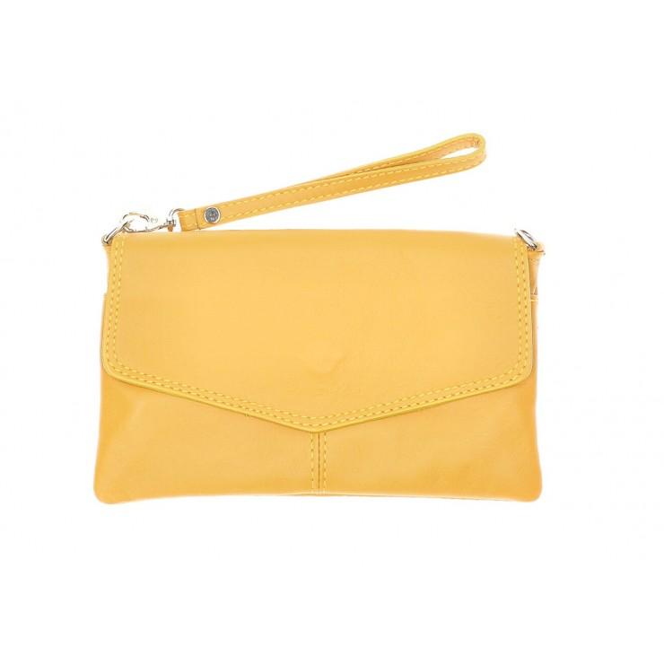 Genuine Leather Handbag 798 mustard