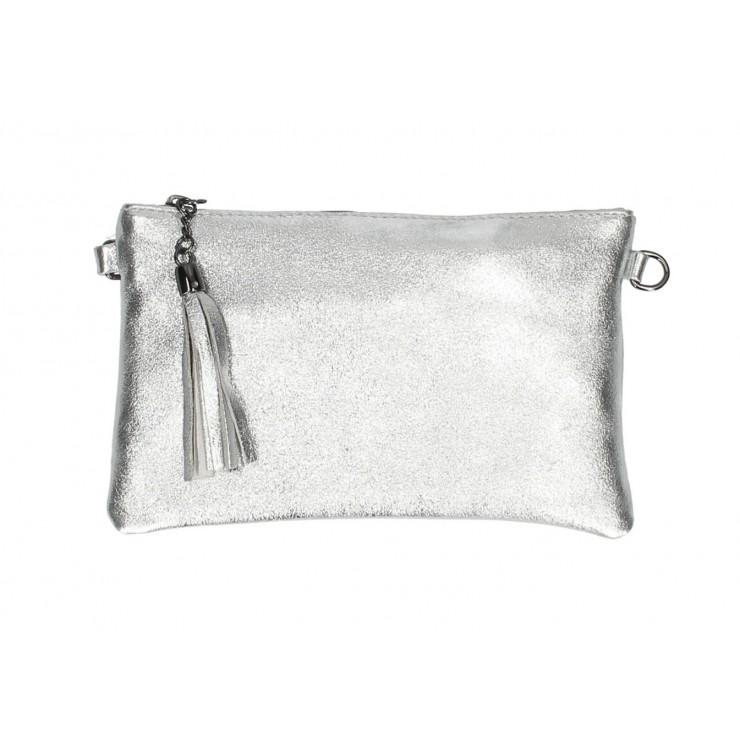 Kožená kabelka 750 stříbrná