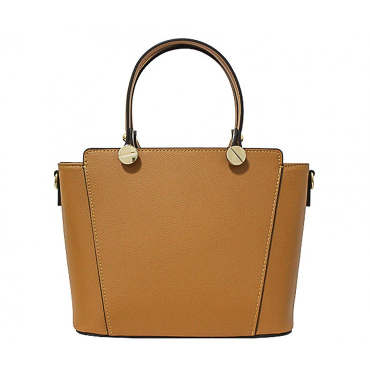 Genuine Leather Handbag  1461 cognac